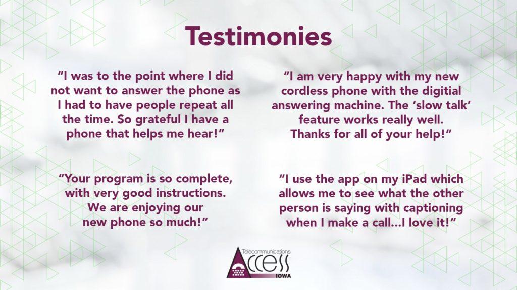 23 testimonioes