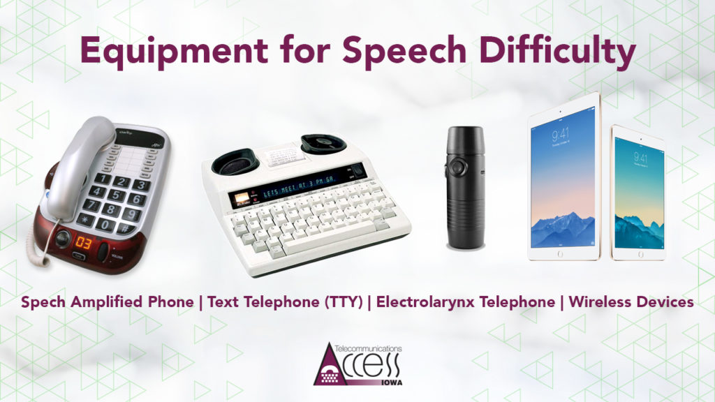 Speech Difficulty Equipment